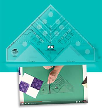 Creative Grids CGRDH1XL Cats Cradle Ruler XL Quilting Template