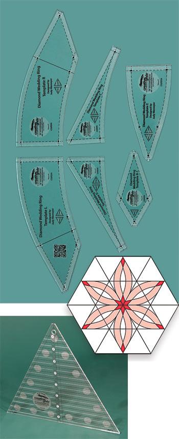 creative grids diamond wedding ring 8 6 piece template set by judy