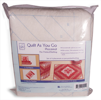 Creative Grids Uk Ltd Quilt As You Go Placemat Pre Printed Batting