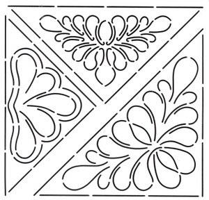 Creative Grids Uk Ltd Quilt Stencil Triangular Designs 4