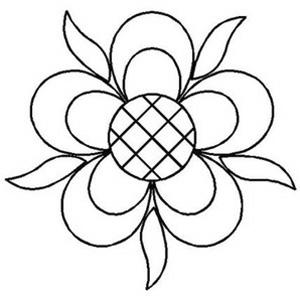Creative Grids Uk Ltd Quilt Stencil Five Petaled Rose 6