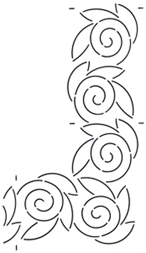 Creative grids uk ltd quilt stencil swirl 4 39 39 border for Quilting templates for borders