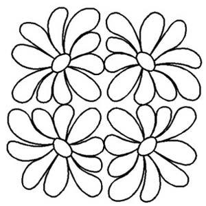 Quilt Stencil 7 18cm Daisy Block