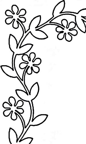 Quilt Stencil Floral Vine 4 Border