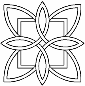 image about Free Printable Quilting Stencils named Quilt Stencil 7 Celtic Structure Stencil